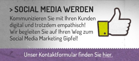 Abbildung Call to Action für Social Media Marketing Zusammenarbeit
