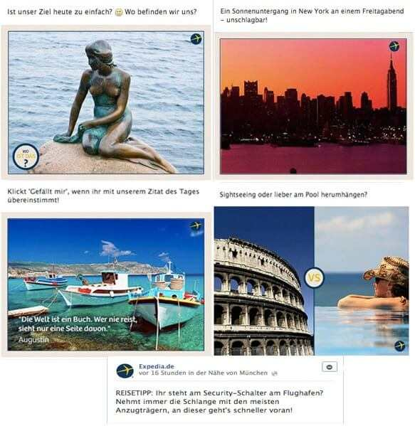 Expedia Posts auf Facebook