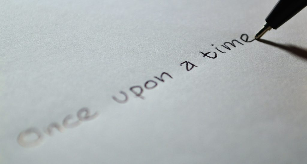 Schrift auf Papier / Once upon at time ...