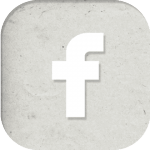 facebook logo in grau