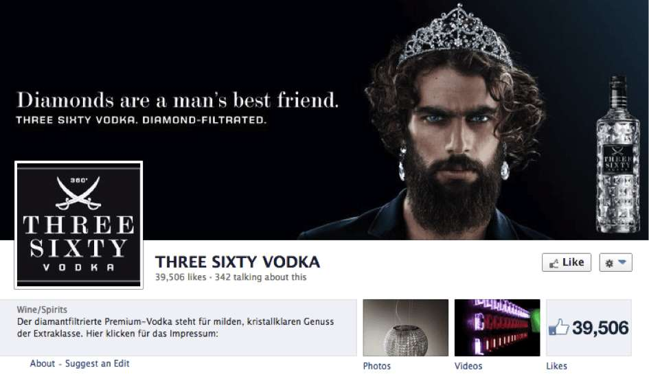 Abbildung des Titelbilds 360 Vodka Facebook