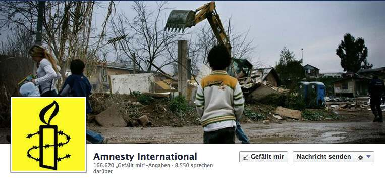 Abbildung Amnesty International bei Facebook Titelbild