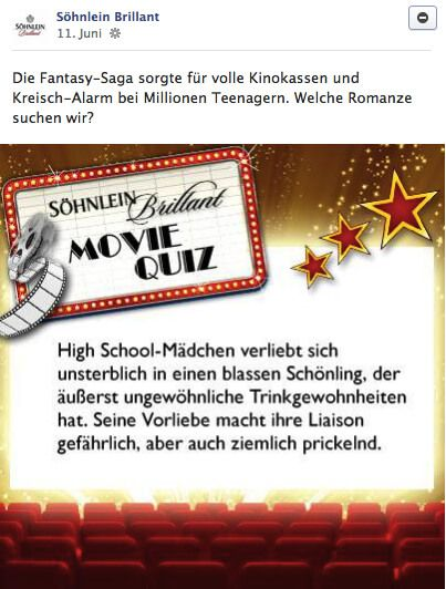 Ansicht Söhnlein Brillant post movie quiz