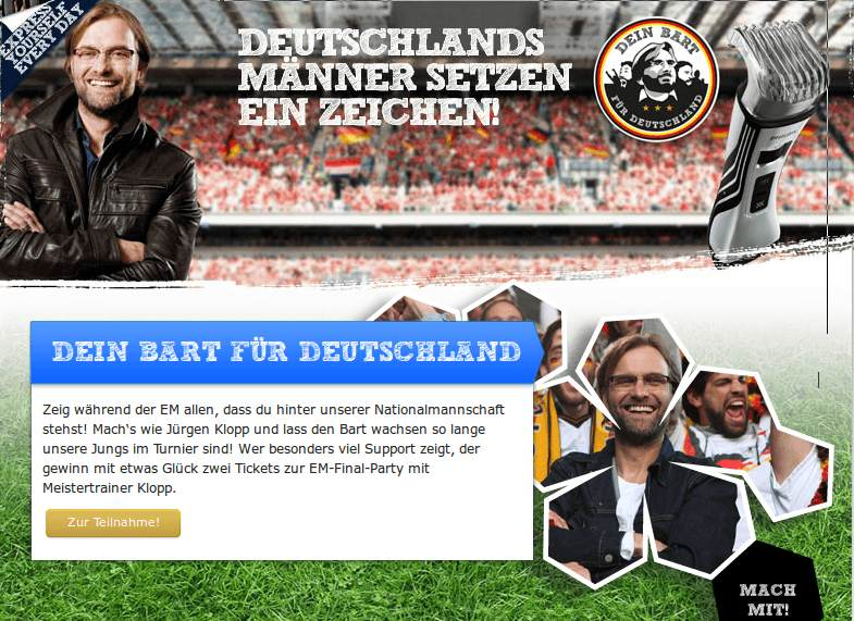 Abbildung Phillips App 2012 Fussball