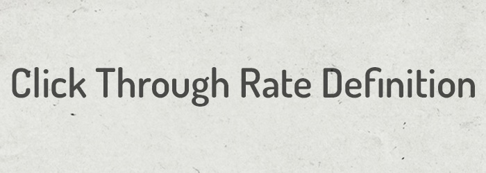 Click Through Rate Definition Titelbild