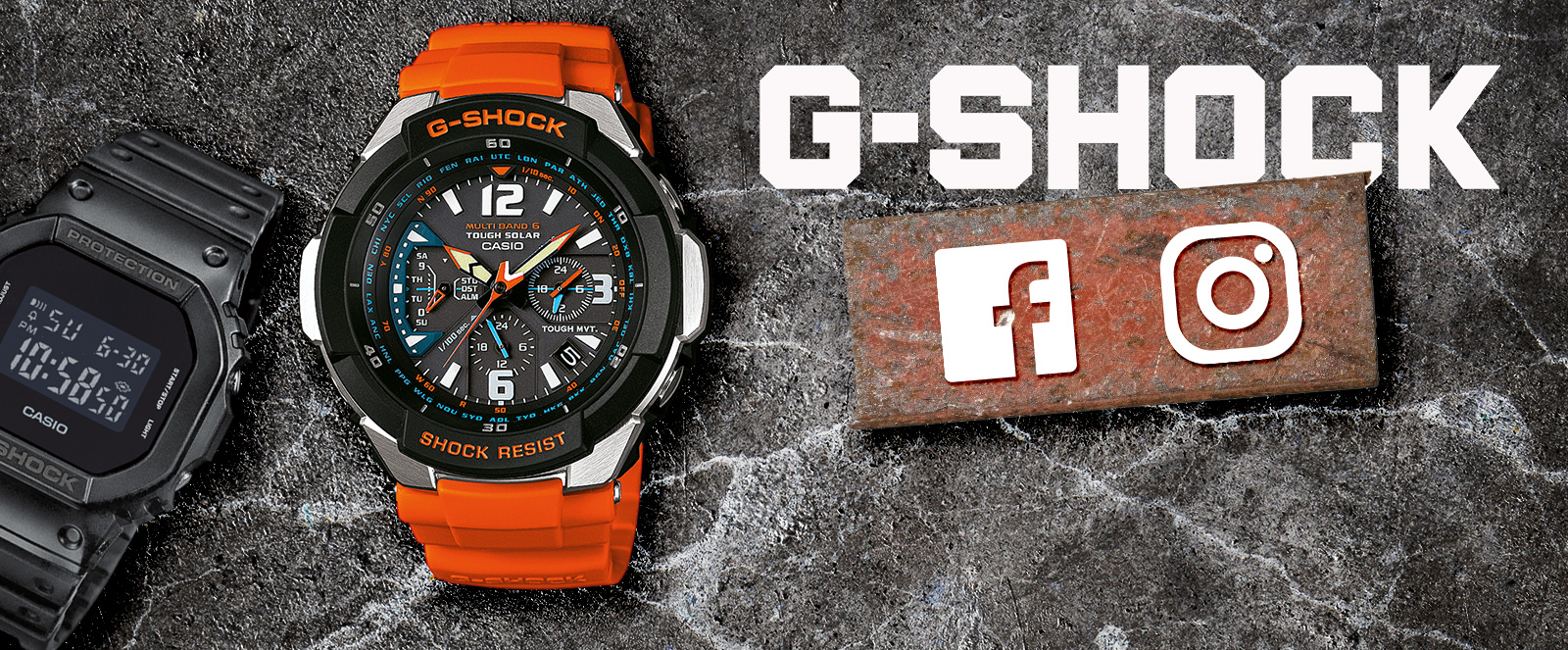 Social Media Case Casio G-Shock